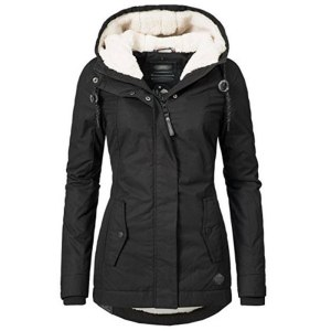 Black Cotton Coats Women Casual Hooded Jacket Coat Fashion Simple High Street Slim 2019 Winter Warm Innrech Market.com