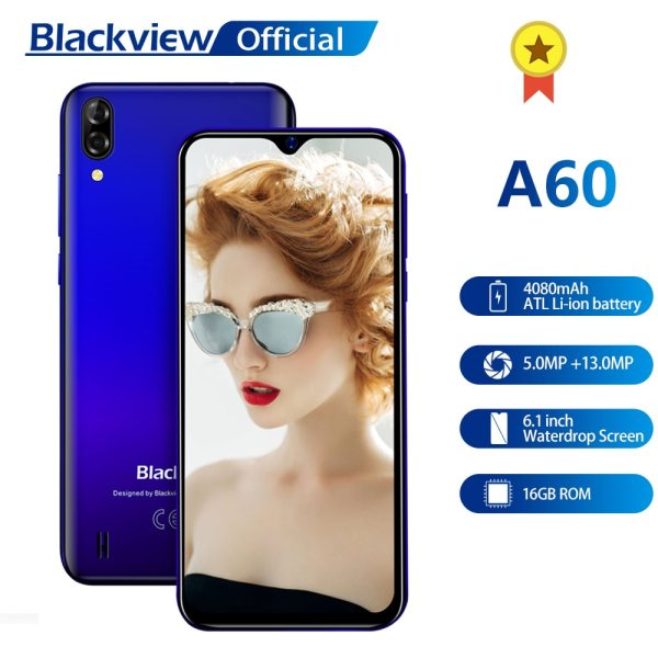 Blackview A60 Smartphone Quad Core Android 8 1 4080mAh Cellphone 1GB 16GB 6 1 inch 19 Blackview A60 Smartphone Quad Core Android 8.1 4080mAh Cellphone 1GB+16GB 6.1 inch 19.2:9 Screen Dual Camera 3G Mobile Phone