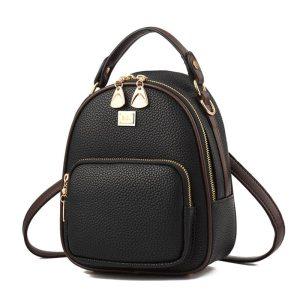 Brand New Leather Small Women Backpacks Zipper Shoulder Bag Female Phone Bags Lady Portable Backpack for Innrech Market.com