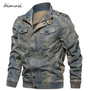 DIMUSI Spring Autumn Mens Denim Jacket Trendy Fashion Ripped Denim Jacket Mens Jeans Jacket Outwear Male Innrech Market.com