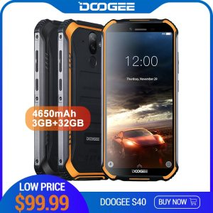 DOOGEE S40 4GNetwork Rugged Mobile Phone 5 5inch Display 4650mAh MT6739 Quad Core 3GB RAM 32GB Innrech Market.com