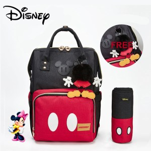 Disney Minnie Mickey Classic Red Diaper Bags 2PCS SET Mummy Maternity Backpack Nappy Bag Large Capacity Innrech Market.com