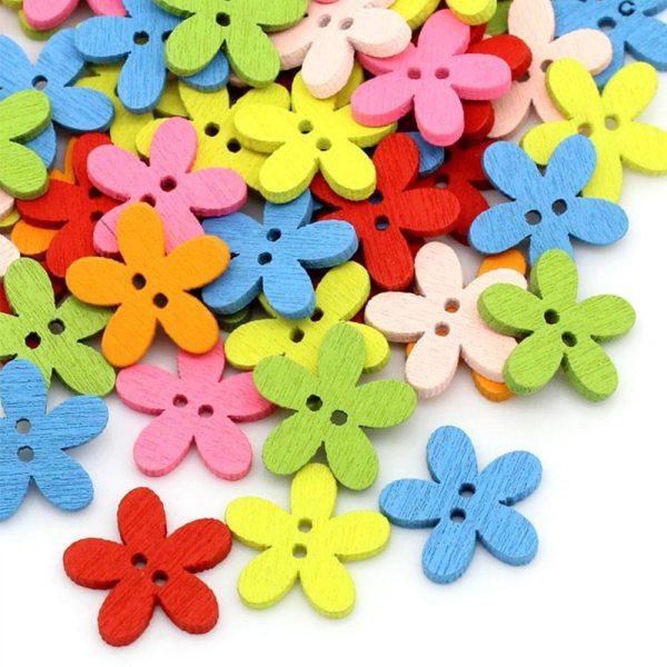 DoreenBeads Wood Sewing Buttons Scrapbooking Craft Garment Clothes DIY Supply Flower 2 Holes Color At Random DoreenBeads Wood Sewing Buttons Scrapbooking Craft Garment Clothes DIY Supply Flower 2 Holes Color At Random 14 x 15 mm, 20 PCs