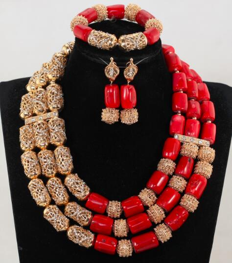 Elegant Red and Silver Bridal Coral Beads Jewelry Set Red Nigerian African Real Coral Beads Women 3 Elegant Red and Silver Bridal Coral Beads Jewelry Set Red Nigerian African Real Coral Beads Women Jewelry Set CNR067