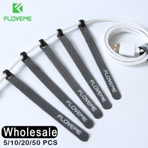 FLOVEME 14cm Cable Organizer Holder Wire Winder Earphone Mouse Cord Clip Aux USB Cable Management Protector Innrech Market.com