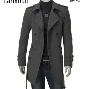 Fast Shipping 2019 New Men S Jackets Double Platoon Buckle Men Long Coat With Belt Double Innrech Market.com