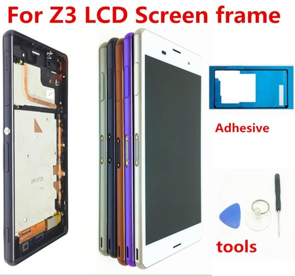 For SONY Xperia Z3 Screen Original 1920x1080 5 2 LCD for Sony Z3 Display Touch Screen For SONY Xperia Z3 Screen Original 1920x1080 5.2'' LCD for Sony Z3 Display Touch Screen with Frame D6603 D6633 D6653 L55T Tools