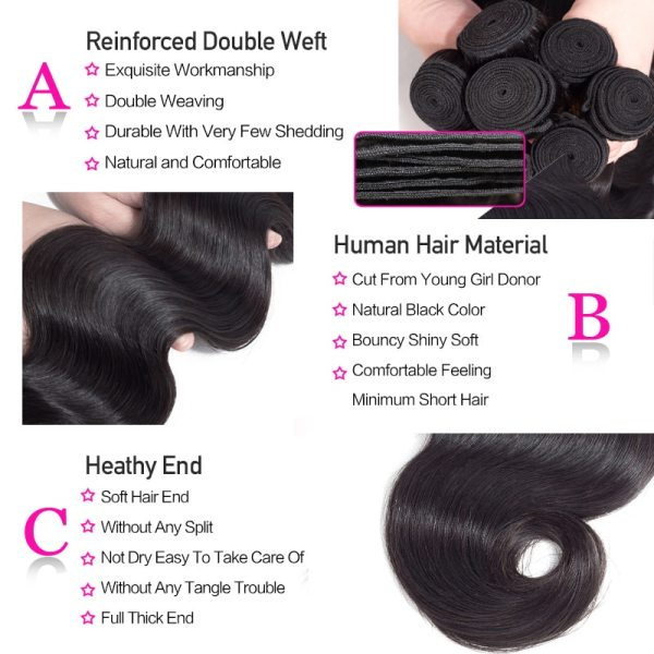 Funky Girl 3 4 bundles with frontal Peruvian Body Wave Human Hair Lace Frontal Closure With 4 Funky Girl 3/4 bundles with frontal Peruvian Body Wave Human Hair Lace Frontal Closure With Bundles Non Remy Frontal With Bundle