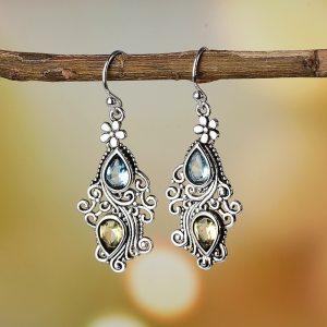 Gemstone Drop Earring Amethyst Peridot Sapphire Crystal for Women 925 Sterling Silver Fine Jewelry Long Dangle Innrech Market.com