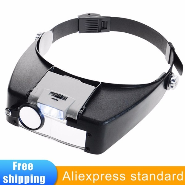 Headband Magnifier Led Light Head Lamp Magnifying Glass Jeweler Loupe With Led Lights 1 5x 3 Headband Magnifier Led Light Head Lamp Magnifying Glass Jeweler Loupe With Led Lights 1.5x 3 X 8.5x 10x