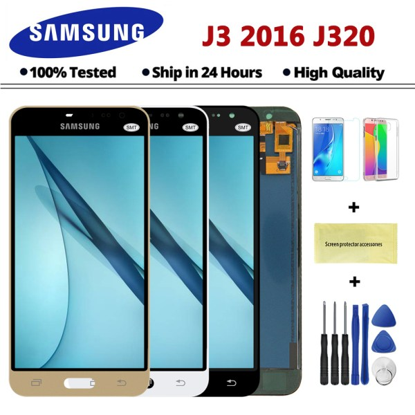 J320F LCD For Samsung Galaxy J3 2016 J320 LCD J320A J320FN J320M LCD Display With Touch J320F LCD For Samsung Galaxy J3 2016 J320 LCD J320A J320FN J320M LCD Display With Touch Screen Digitizer Assembly Free shipping