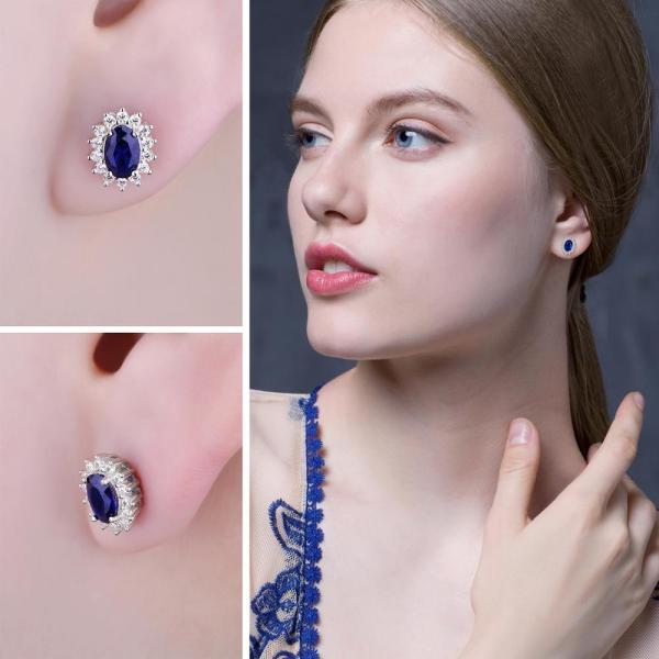 JPalace Diana Created Blue Sapphire Stud Earrings 925 Sterling Silver Earrings For Women Korean Earings Fashion 3 JPalace Diana Created Blue Sapphire Stud Earrings 925 Sterling Silver Earrings For Women Korean Earings Fashion Jewelry 2019