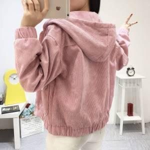 Jacket Chaqueta Coat Clothes Streetwear New 2019 Women Jacket Long Sleeve Turn down Collar Outerwear Brown Innrech Market.com