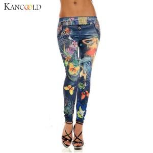 KANCOOLD jeans Sexy Womens Skinny Blue Jean Denim Stretchy Jeggings Pants fashion Snowflake jeans woman 2018Oct23 Innrech Market.com