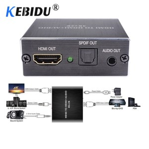 KEBIDU 4K x 2K HDMI audio extractor Optical TOSLINK SPDIF 3 5mm Stereo Audio Extractor Converter Innrech Market.com