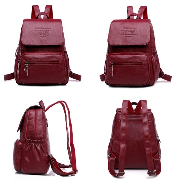 LANYIBAIGE 2018 Women Backpack Designer high quality Leather Women Bag Fashion School Bags Large Capacity Backpacks 1 LANYIBAIGE 2018 Women Backpack Designer high quality Leather Women Bag Fashion School Bags Large Capacity Backpacks Travel Bags