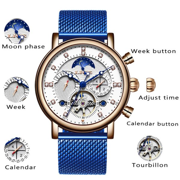 LIGE Gift Mens Watches Brand Luxury Fashion Tourbillon Automatic Mechanical Watch Men Stainless Steel watch Relogio 1 LIGE Gift Mens Watches Brand Luxury Fashion Tourbillon Automatic Mechanical Watch Men Stainless Steel watch Relogio Masculino