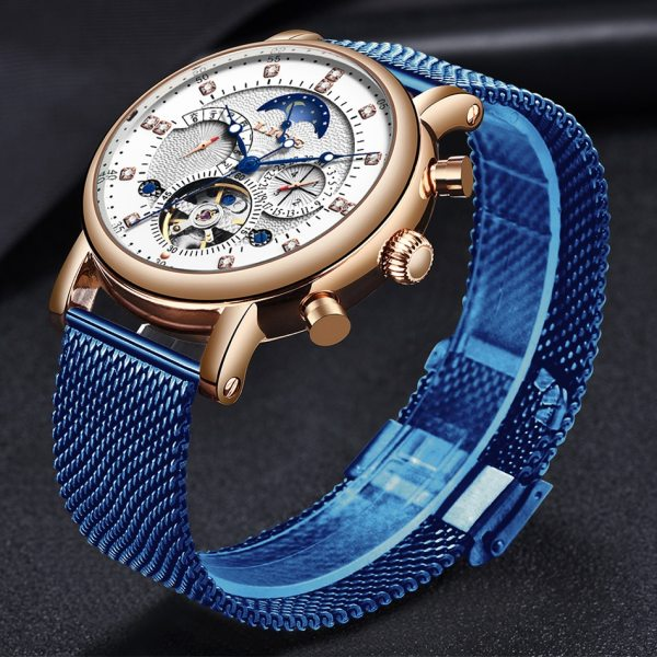 LIGE Gift Mens Watches Brand Luxury Fashion Tourbillon Automatic Mechanical Watch Men Stainless Steel watch Relogio 3 LIGE Gift Mens Watches Brand Luxury Fashion Tourbillon Automatic Mechanical Watch Men Stainless Steel watch Relogio Masculino