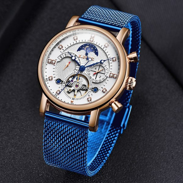 LIGE Gift Mens Watches Brand Luxury Fashion Tourbillon Automatic Mechanical Watch Men Stainless Steel watch Relogio 4 LIGE Gift Mens Watches Brand Luxury Fashion Tourbillon Automatic Mechanical Watch Men Stainless Steel watch Relogio Masculino