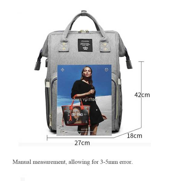 Lequeen USB Mummy Maternity Nappy Bag Brand Large Capacity Baby Bag Travel Backpack Designer Nursing Bag 5 Lequeen USB Mummy Maternity Nappy Bag Brand Large Capacity Baby Bag Travel Backpack Designer Nursing Bag for Baby Care