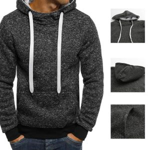 Men s Hoodies Pullover 2019 Autumn Winter Hip hop Coat Hoody Fleece Solid Casual Tracksuits Hooded Innrech Market.com