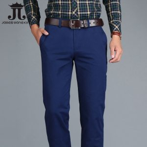 Mens Chinos High Quality Cotton Casual Pants Stretch Male Trousers Man Long Straight Plus Size chinos Innrech Market.com