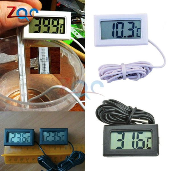 Mini LCD Digital Thermometer for Freezer Temperature 50 110 degree Refrigerator Fridge Thermometer indoor outdoor Probe 2 Mini LCD Digital Thermometer for Freezer Temperature -50~110 degree Refrigerator Fridge Thermometer indoor outdoor Probe 1M 2M