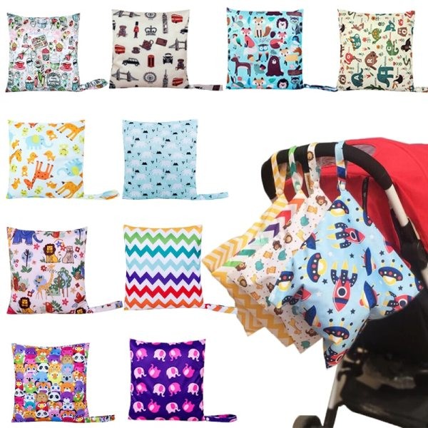 Mummy Diaper Nappy Bag Baby Travel Diaper Bag Waterproof Maternity Small Wet Bags for Mommy Storage Mummy Diaper Nappy Bag Baby Travel Diaper Bag,Waterproof Maternity Small Wet Bags for Mommy Storage Stroller Accessories 28*30cm