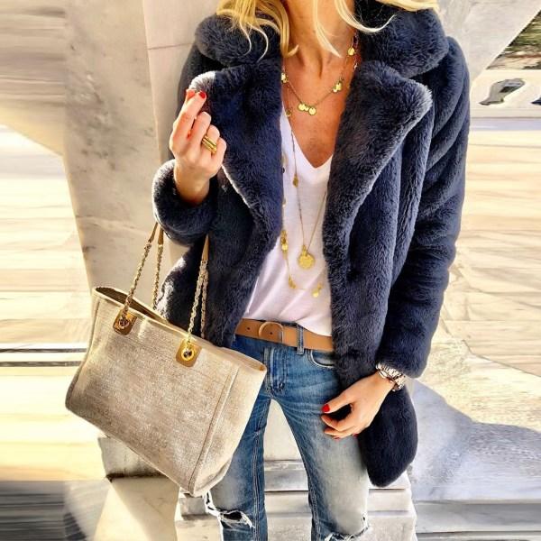 New Winter Womens Faux Fur Long Outwear Coat Warm Fleece Thick Jacket Ladies Long Plus Size 3 New Winter Womens Faux Fur Long Outwear Coat Warm Fleece Thick Jacket Ladies Long Plus Size Cardigan Overcoat