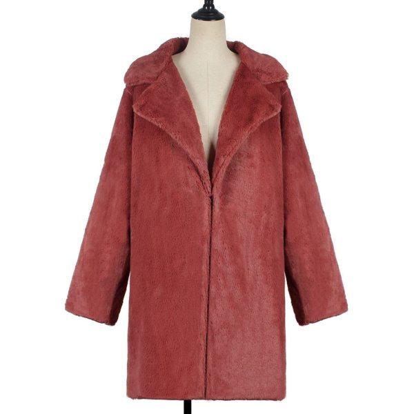 New Winter Womens Faux Fur Long Outwear Coat Warm Fleece Thick Jacket Ladies Long Plus Size 5 New Winter Womens Faux Fur Long Outwear Coat Warm Fleece Thick Jacket Ladies Long Plus Size Cardigan Overcoat