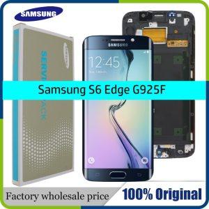 ORIGINAL 5 1 SUPER AMOLED Display for SAMSUNG Galaxy S6 edge LCD Frame G925 G925I G925F Innrech Market.com