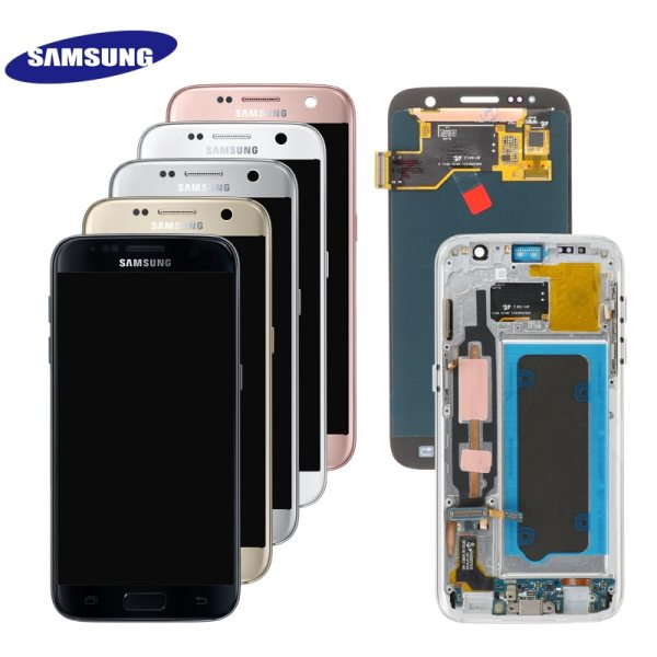 ORIGINAL 5 1 SUPER AMOLED LCD For Samsung Galaxy S7 G930 SM G930F G930F LCD Display ORIGINAL 5.1'' SUPER AMOLED LCD For Samsung Galaxy S7 G930 SM-G930F G930F LCD Display With Touch Screen Digitizer Replacement
