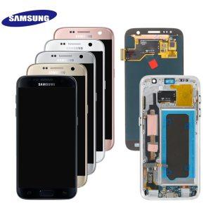 ORIGINAL 5 1 SUPER AMOLED LCD For Samsung Galaxy S7 G930 SM G930F G930F LCD Display Innrech Market.com