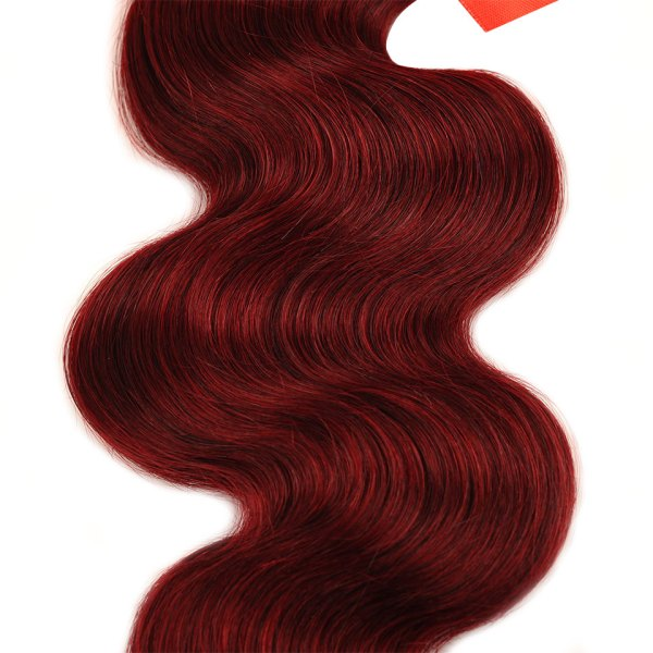 Pinshair 99J Hair Red Burgundy Bundles With Closure Brazilian Body Wave Human Hair Weave Bundles With 3 Pinshair 99J Hair Red Burgundy Bundles With Closure Brazilian Body Wave Human Hair Weave Bundles With Closure Non Remy No Tangle