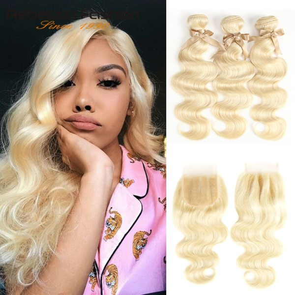 Rebecca 613 Blonde Bundles With Closure Brazilian Body Wave Remy Human Hair Weave Bundles 613 Honey Rebecca 613 Blonde Bundles With Closure Brazilian Body Wave Remy Human Hair Weave Bundles 613 Honey Blonde Bundles With Closure