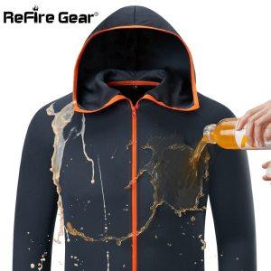 Refire Gear Summer Waterproof Hoodie Jacket Men Quick Dry Lightweight Skin Coat Casual Thin Breathable Ice Innrech Market.com