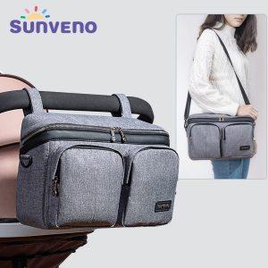 SUNVENO Diaper Bag For Baby Stuff Nappy Bag Stroller Organizer Baby Bag Mom Travel Hanging Carriage Innrech Market.com