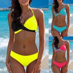 Sexy Bikini Push Up Swimwear Women biquinis feminino 2018 mujer Swimsuit tanga Swimming Bathing Suit Plus Innrech Market.com