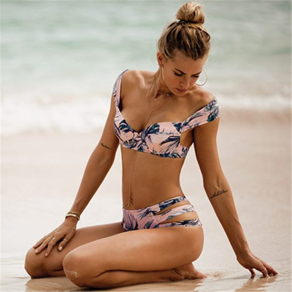 Sexy Bikinis Women Swimsuit 2019 Summer Cut Out Bathing Suits Push Up Bikini Print Swimwear Beach 1 Sexy Bikinis Women Swimsuit 2019 Summer Cut Out Bathing Suits Push Up Bikini Print Swimwear Beach Wear With Underwire Biquini