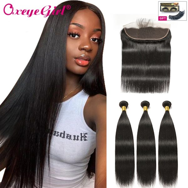 Straight Hair Bundles With Frontal Peruvian Hair Lace Frontal With Bundles 3 Human Hair Bundles With Straight Hair Bundles With Frontal Peruvian Hair Lace Frontal With Bundles 3 Human Hair Bundles With Closure Oxeye girl Non Remy