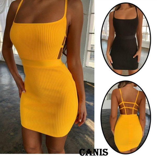 Summer Sexy Bandage Hollow Out Dress Women Fashion Sleeveless Backless Bodycon Party Club Dress Mini Wrap Summer Sexy Bandage Hollow Out Dress Women Fashion Sleeveless Backless Bodycon Party Club Dress Mini Wrap Dress