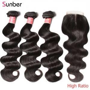 Sunber Hair Peruvian Body Wave Hair Bundles With Closure High Ratio Remy Hair 3 4 Bundles Innrech Market.com