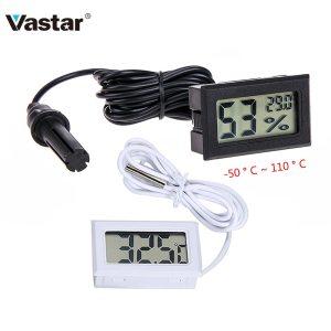Vastar 50 to 110 Digital Thermometer Mini LCD Display Meter Fridges Freezers Coolers Aquarium Chillers Mini Innrech Market.com