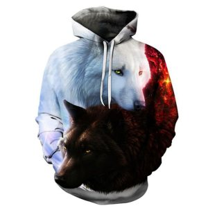 Wolf Printed Hoodies Men 3d Hoodies Brand Sweatshirts Boy Jackets Quality Pullover Fashion Tracksuits Animal Streetwear Innrech Market.com
