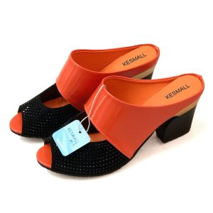 Women Sandals Square Heel 2019 Summer Shoes Woman Fashion Slides Cut out Open Toe Slip On Innrech Market.com