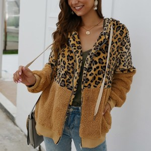 Women Winter Coat Top Long Sleeve Hooded Warm Jacket Outwear Casual Fashion Leopard Tops Coat Hot Innrech Market.com