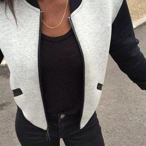 Women s Zipper Small Jackets Fleece Cardigan Short Section Collar Autumn Fashion Womens Bomber Jackets Plus Innrech Market.com