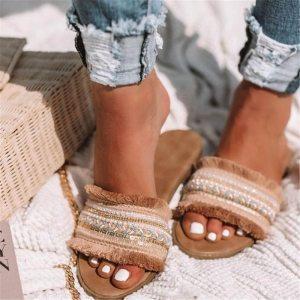 Women slippers 2019 summer new Rome Retro sandals flat casual shoes female slip on slides woman Innrech Market.com