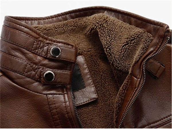 XingDeng PU Brand High Leather Jacket Men Coats plus 5XL Quality Outerwear Men Business Winter Faux 4 XingDeng PU Brand High Leather Jacket Men Coats plus 5XL Quality Outerwear Men Business Winter Faux Fur Male top clothes Fleece