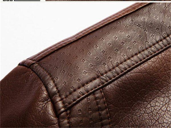 XingDeng PU Brand High Leather Jacket Men Coats plus 5XL Quality Outerwear Men Business Winter Faux 5 XingDeng PU Brand High Leather Jacket Men Coats plus 5XL Quality  Outerwear Men Business Winter Faux Fur Male top clothes Fleece
